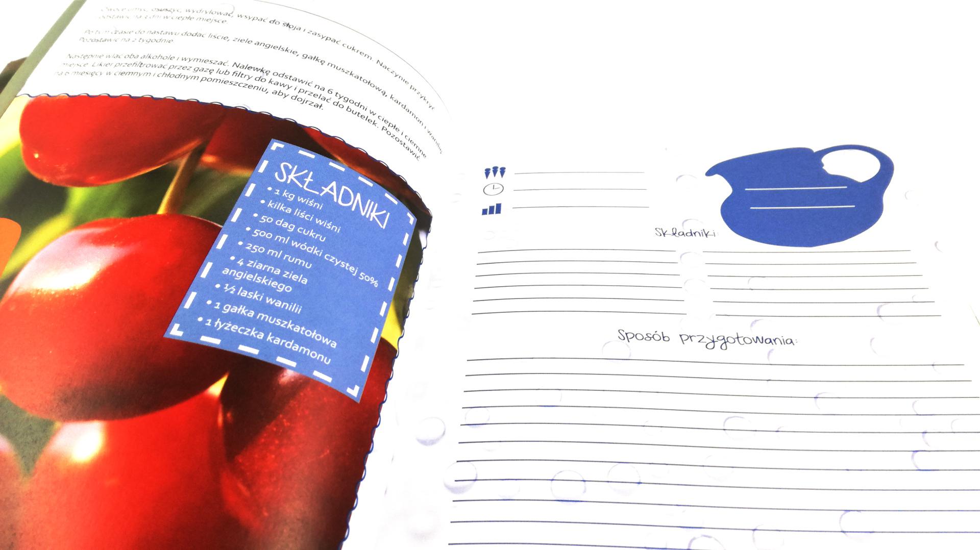 Notes na przepisy domowe nalewki